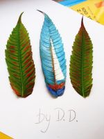 Leaf painting by dora2626