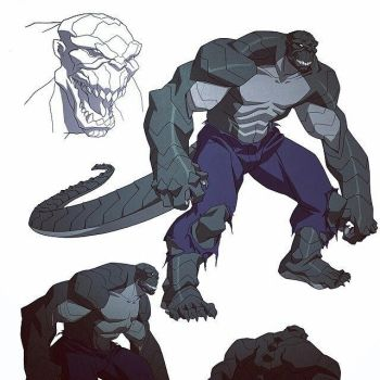 Killer Croc by waleff