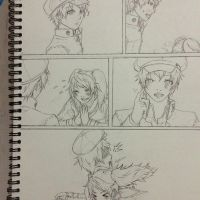 PERSONA4: WIP NaoRise Silent Comic by KageNao