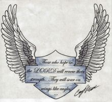 Wings Like Eagles Tattoo Design by NarcissusTattoos