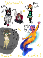 CHEAP ADOPTS. by ElijahFoxArts