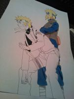 -:WIP 02:- Family Bonds - Naruto and Minato by SakakiTheMastermind