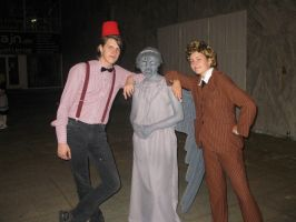 CS'11 DW - 11th, Weeping Angel and 10th by Hermy46