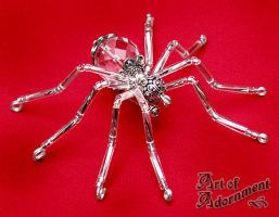 Crystal Spider Brooch by ArtOfAdornment