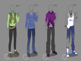 Guy Outfits - sold by Nahemii-san