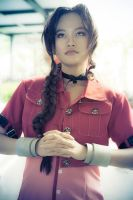 Aerith-- A silent prayer by Aquarina12