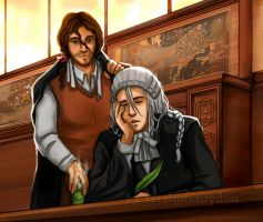 Kyouraku + Ukitake: Judges by Liliana-Claire