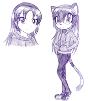 PC - Kimi the Cat Sketch by kayoko-chan