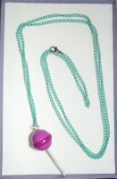 Pink lolly necklace by MeticulousBlue