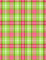 Pink-Lime Plaid Star Paper by jakobie-coyote