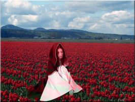 Our Lady Of The Tulips by VisualPoetress