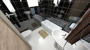 Waterhouse Townhouse design 1 - Master Bathroom by MattShadowwing