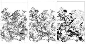 The Pride #3 cover process by csmithart
