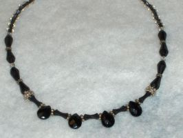 Faceted Drops of black by jinifur