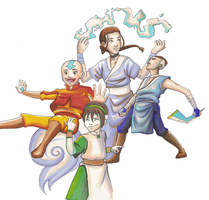 the avatar gang by dottie-hotblack