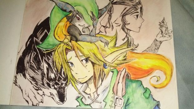 Link and midna by lallibear