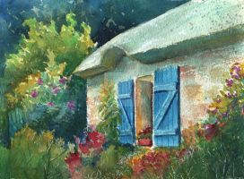 English Cottage by KathleenCasey
