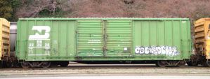 train yard 8 - green boxcar by JensStockCollection