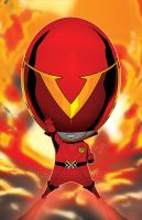 The embodiment of all Red Sentai warriors by theCHAMBA