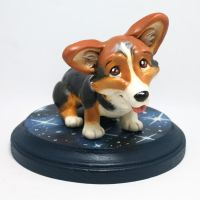 Gravity the Corgi Sculpture by LeiliaClay