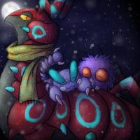 Poison bugs in snow by Fellduck