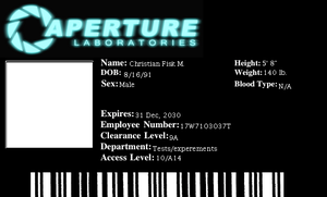 Aperture Science ID Badge by Tearahk