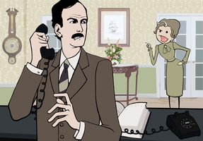 Basil Fawlty by GollyAbsolutely