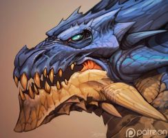Dragon-head by el-grimlock