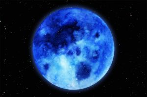 Watercolor: Blue Moon by jadesweetbox