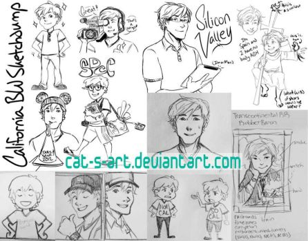 CA - Black and White Sketchdump by Cat-s-Art