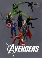 Gender Bent Avengers by coolbyproxy