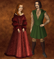 Portia and Bassanio by SingerofIceandFire