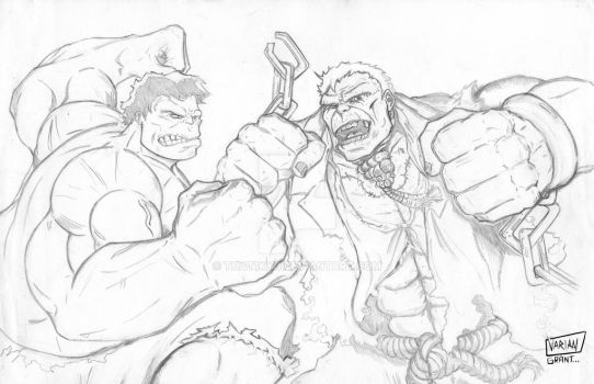 Hulkvsgrundy by That1Kyd