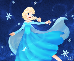 Frozen - Elsa by aimturein