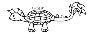 Turtle Thing Lineart by HopeForTheFuture13