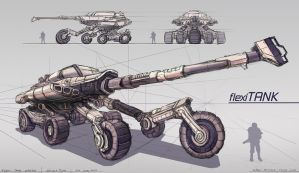 Tank Concept Design Technical Drawing by minifong