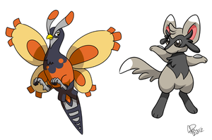 Fusion Pokemon - Unfezim and Mincciolu by twapa