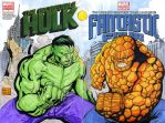 Hulk vs The Thing sketch cover crossover by mdavidct