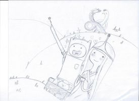 Finn and P.B.-Adventure Time Request by AdamsSketches