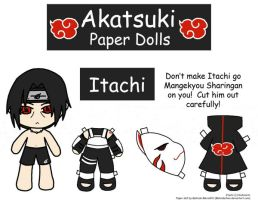 Itachi Paper Doll by Malindachan