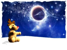Christmas card Rudolph by rlcwallpapers