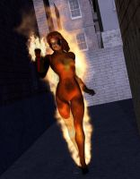 Heroes Unlimited Mutant Volcana by MADMANMIKE