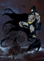 Batman-Guile Color WIP 1 by JamesLeeStone
