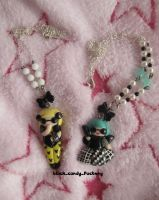 lady gaga necklaces by gothic-yuna