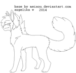 chibi scene emo canine bases MSpaint compatible by meiaou