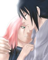 SasuSaku: Based on Naruto manga 685 coloring 2 by Lesya7
