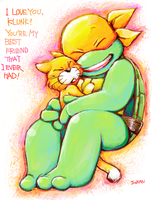 Mikey and his best friend by FREAKfreak