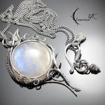 XETHERNIS - silver and moonstone by LUNARIEEN