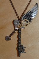 Steampunk Key Necklace by DemoraFairy