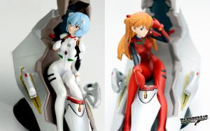Rei and Asuka by wahdegreat